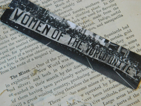Feminist Women of The World Unite Steel Bookmark
