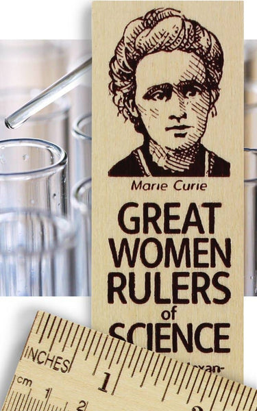 Marie Curie Great Women Rulers of Science Wooden Ruler