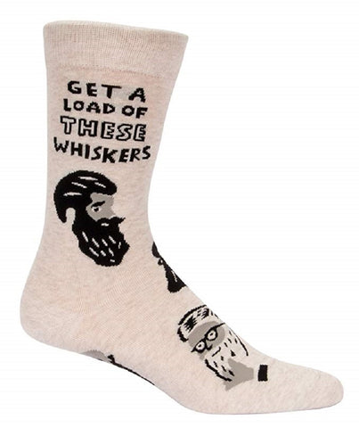Get a Load of These Whiskers Men's Crew Socks with Bearded Guys