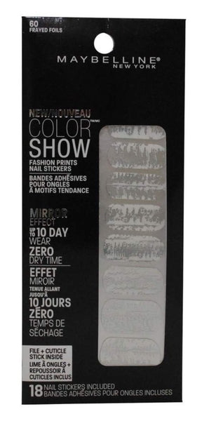 Maybelline Color Show Fashion Print Nail Stickers Nail Polish - Frayed Foils