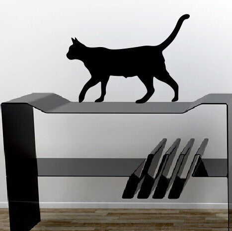Cat Lady Extra Shadow-Cat Wall Sticker
