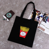 Fries Are Supreme Tote in Black or White