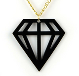 Geometric Black Gem Necklace