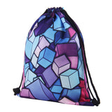 Geometric Gem Drawstring Backpack