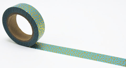 Aqua and Gold Geo Washi Tape