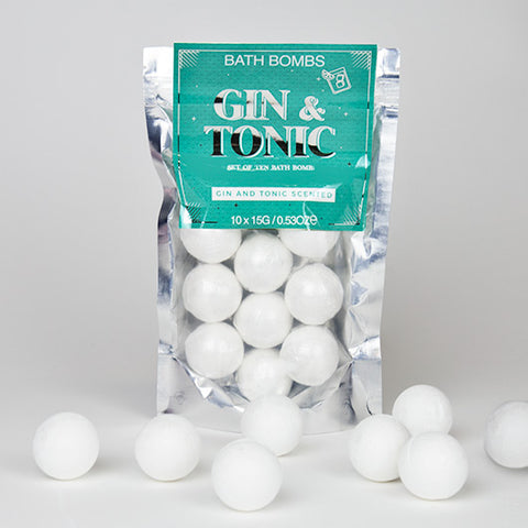 Gin and Tonic Scented Bath Bombs | Silvery Luxurious Bath Bombs with the Bracing Scent of Gin and Tonic