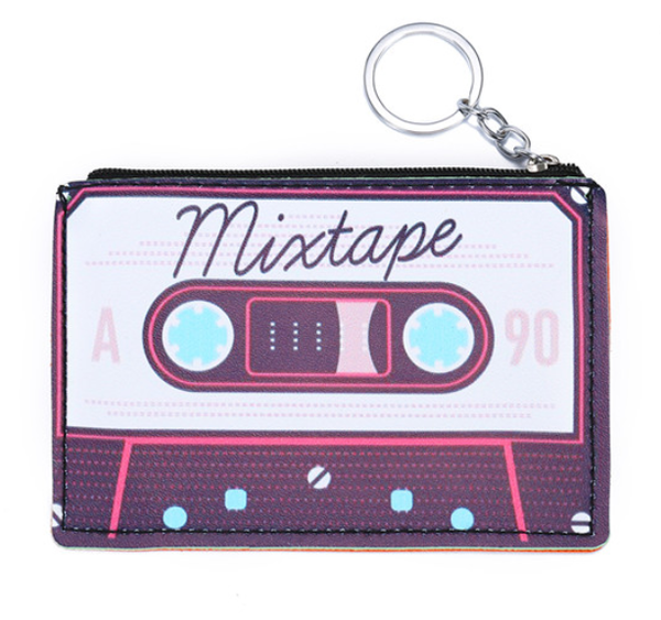 Cool Mixtape '80s Retro Keyring Coin Purse