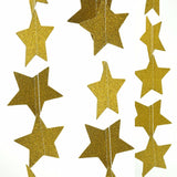 Golden Glitter Star Bunting Banner in Sparkle