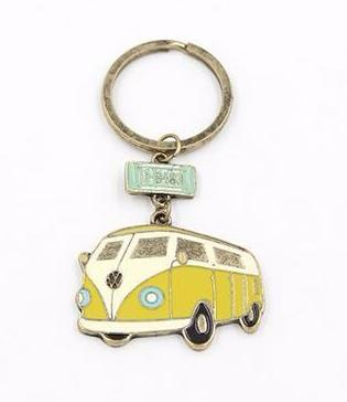 VW Bus Graphic Keychain in Retro Green 9820d87ba