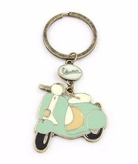 Vespa Graphic Keychain in Mint and Gold