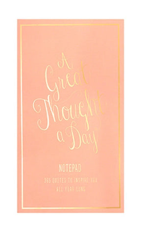 Great Thought A Day Inspirational Notebook in Coral and Gold
