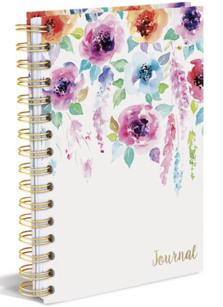 Hanging Flowers Hard Bound Journal in Spring Colors