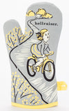 Hellraiser Oven Mitt in Gray and Yellow - Click for Promo Code
