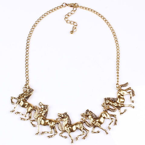 """Making a Statement and That Statement is HORSES"" Statement Necklace"