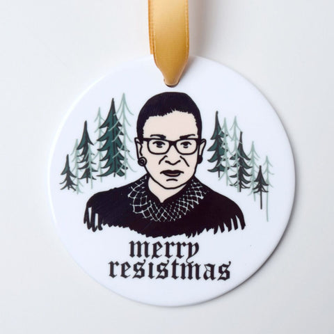 Merry Resistmas Ruth Bader Ginsburg Christmas Ornament