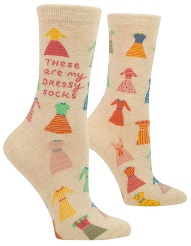 These Are My Dressy Socks Women's Crew Socks Hipster/Nerdy/Geeky/Trendy, Colorful Funny Novelty Socks with Cool Design, Bold/Crazy/Unique Quirky Dress Socks