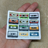 Cassette Tape Sticker / Vintage Cassette Sticker / Vinyl Sticker / Tablet Sticker / Vintage Image / Phone Sticker / Laptop Sticker