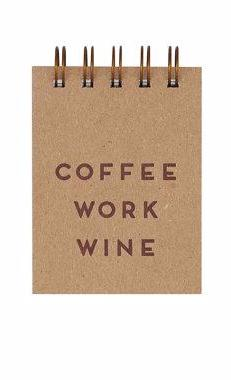 Mini Coffee Work Wine Pocket Notebook