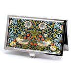 William Morris Strawberry Thief Floral Business Card Case