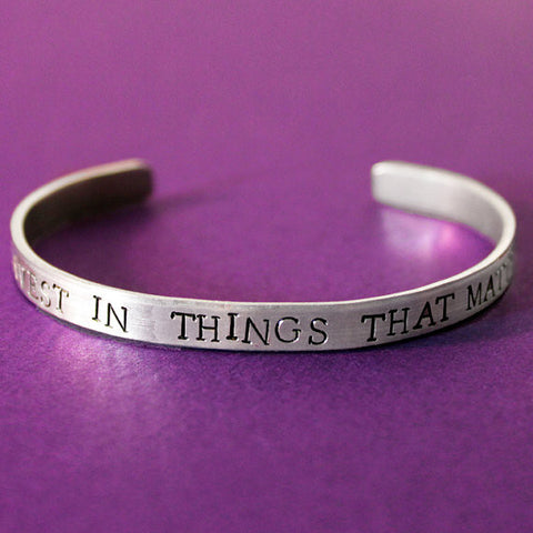 Invest In Things That Matter Bracelet