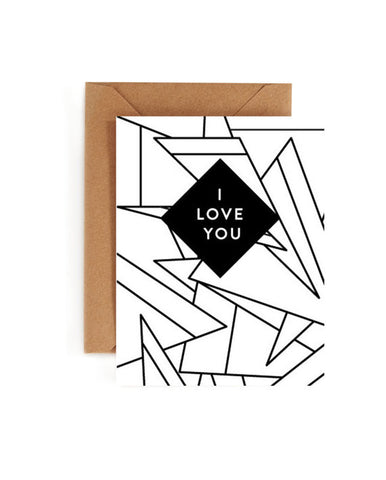 I Love You Coloring Book Card