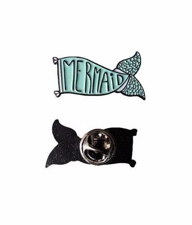 Mermaid Tail Flag Enamel Pin Badge