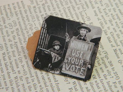 Women! Use Your Vote Feminist Lapel Pin