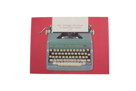 Vintage (Mint Typewriter) Stickies Sticky Notes Portfolio