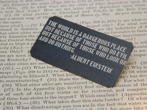 The World Is A Dangerous Place Einstein Pin