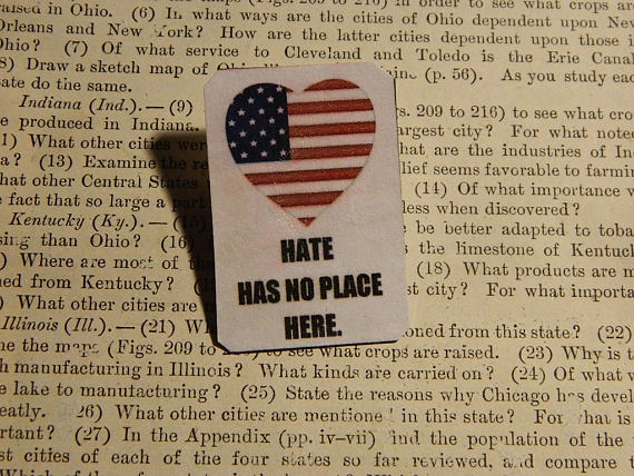 Hate Has No Place Here Lapel Pin