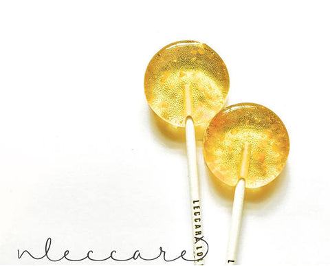 Champagne Lollipops in Gold Glitter - Available in Single Pop or Pack of 3