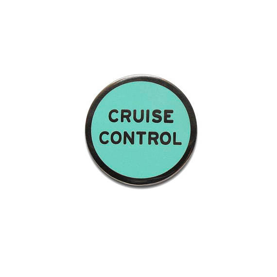 Cruise Control Enamel Lapel Pin in Tiffany Blue