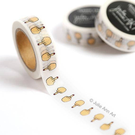 Middle Finger Washi Tape