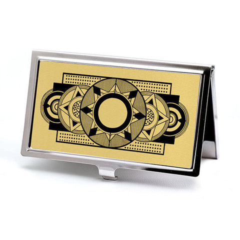 Gold Art Deco Business Card Holder