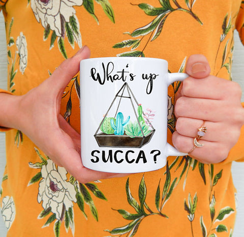 What's Up Succa Succulent Mug