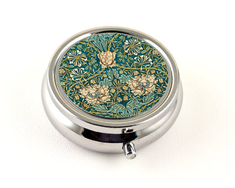 William Morris Honeysuckle Floral Pill Box