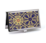 Victorian Business Card Case in Cobalt and Gold