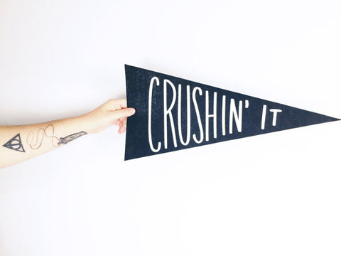 Crushin' It Pennant Flag
