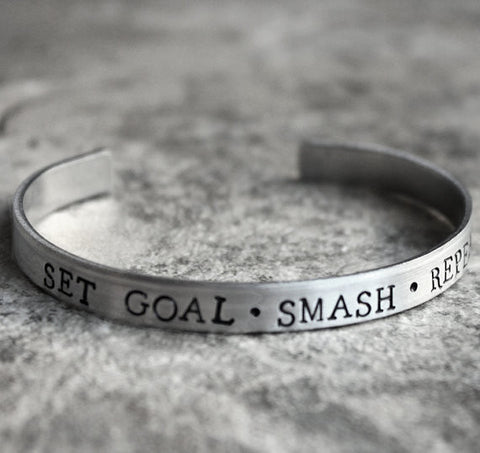 Set Goal - Smash - Repeat Bracelet