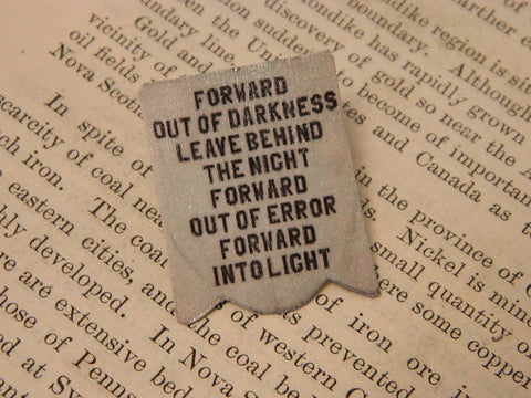 Forward Out of Darkness Suffragette Banner Feminist Lapel Pin