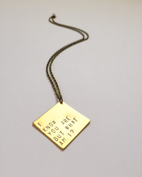 The Betty Collection: I Know You Are But What Am I Necklace in Brass
