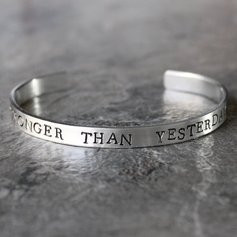 Stronger Than Yesterday Bracelet