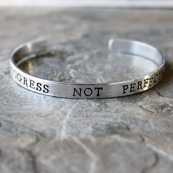 Progress Not Perfection Bracelet