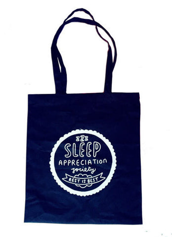 Sleep Appreciation Society Tote Bag
