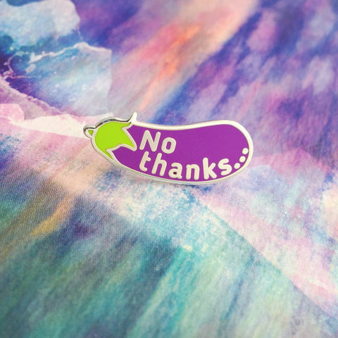 No Thanks Enamel Lapel Pin Badge