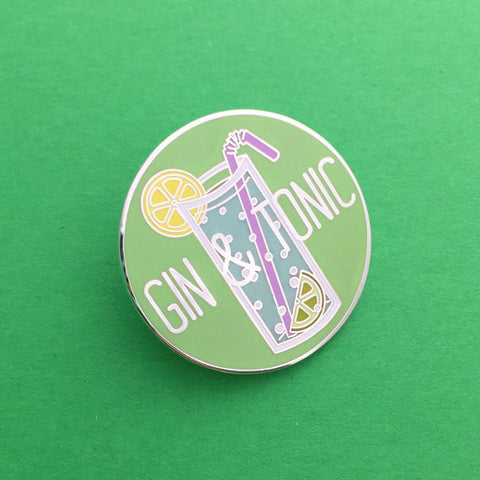 Gin and Tonic Enamel Pin Badge