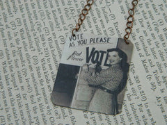 Political Jewelry by Sarah Wood
