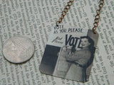 Vote As You Please But Please Vote Necklace
