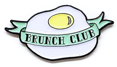 Fried Egg Brunch Club Enamel Pin