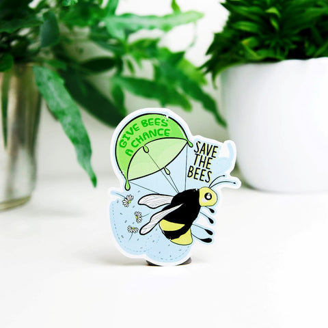 Give Bees A Chance Save The Bees Sticker